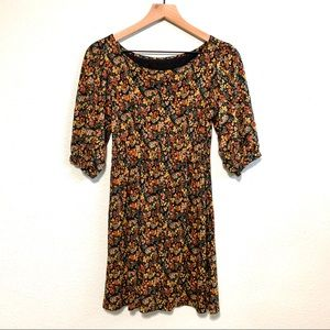 Floral 90s inspired mini dress S